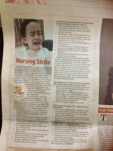 Salah satu tulisan saya di koran
